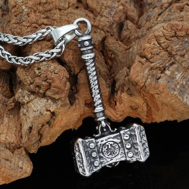 Veg-Visir, , 316L STAINLESS STEEL HAMMER NECKLACE, Jewels, Jewelry, Vikings, Norse - Veg-Visir