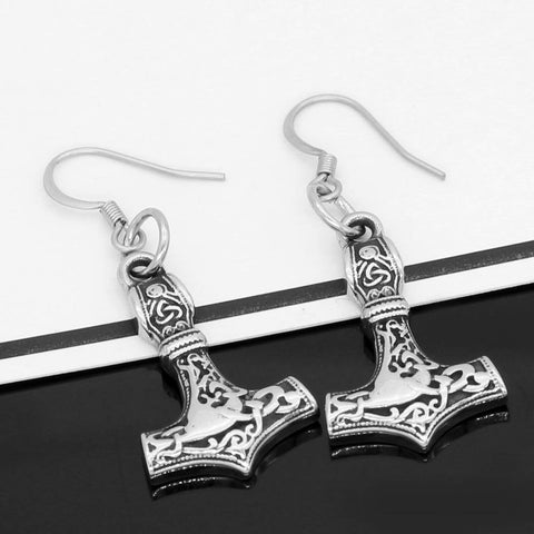Veg-Visir, , MJOLNIR EARRINGS, Jewels, Jewelry, Vikings, Norse - Veg-Visir