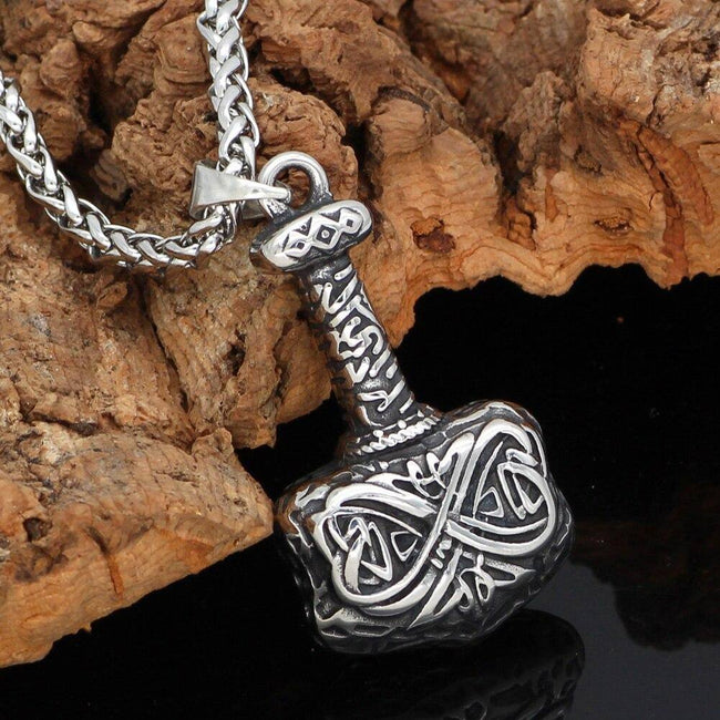 Veg-Visir, , MJOLNIR WITH PATTERN NECKLACE, Jewels, Jewelry, Vikings, Norse - Veg-Visir