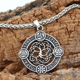 316L STAINLESS STEEL TREE OF LIFE WITH MULTIPLE RUNES NECKLACE Full Necklace / 60cm Veg-Visir  veg-visir.myshopify.com Veg-Visir