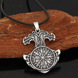 Veg-Visir, , MJOLNIR WITH HELM OF AWE NECKLACE, Jewels, Jewelry, Vikings, Norse - Veg-Visir