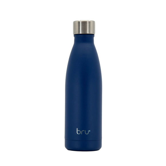 bru bottle blue,keep cold water bottle, vacuum water bottle, double walled water bottle, water bottle hot and cold
