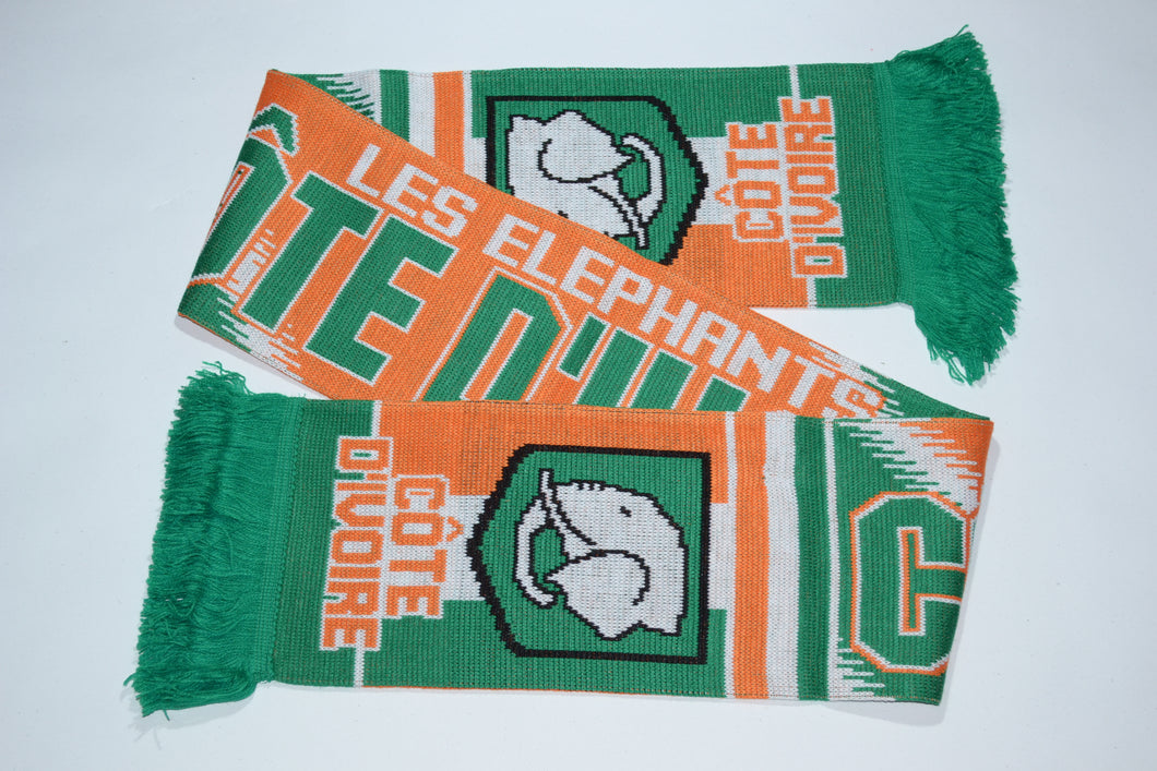 Cote D'Ivoire - Ivory Coast Acrylic Football Scarf