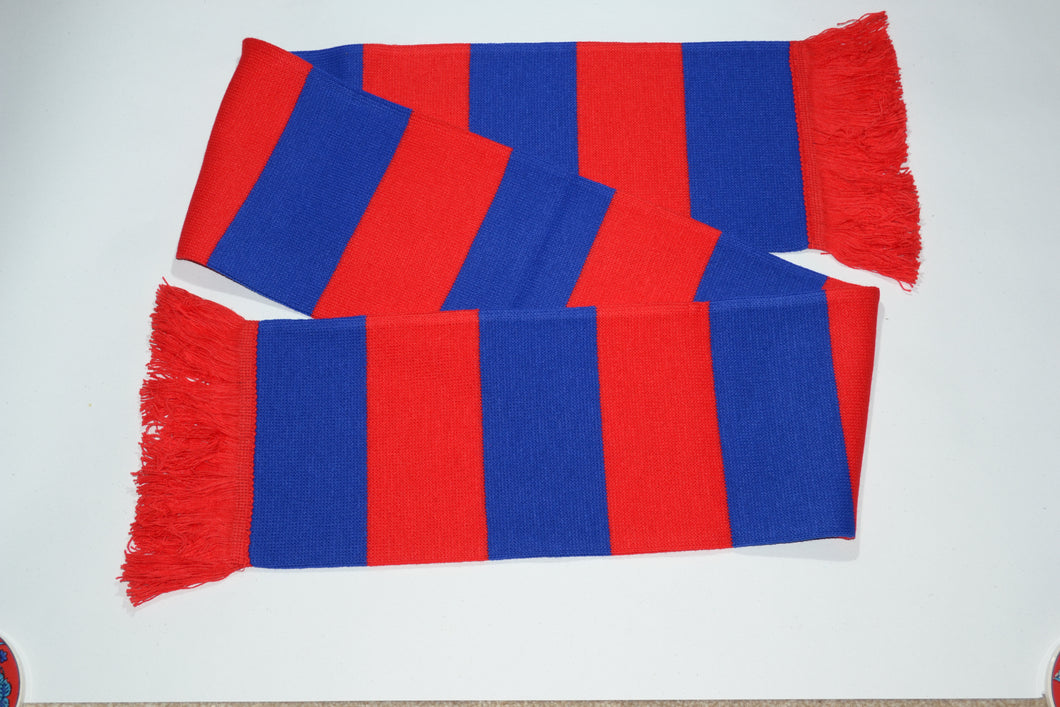 Red and Blue Bar Acrylic Football Scarf
