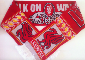 Liverpool Walk On By Acrylic Football Scarf