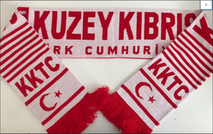 KKTC Northern Cyprus Acrylic Football Scarf
