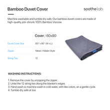 Load image into Gallery viewer, Weighted Blanket Cover Sizing - Soothe Lab