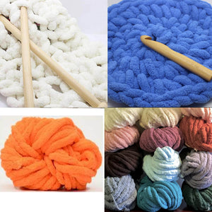 250g Chenille Thick Chunky Yarn For Knitting Merino Wool Yarn 2cm Thick Yarns For Hand knitting Blanket Crochet Nest