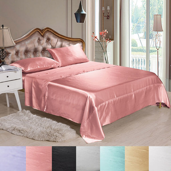 Satin Sheet Set - Silk Bedding Bed Sheets
