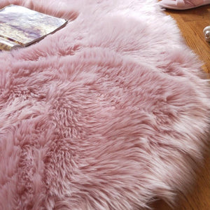 Faux Fur Sheepskin Round Area Rug