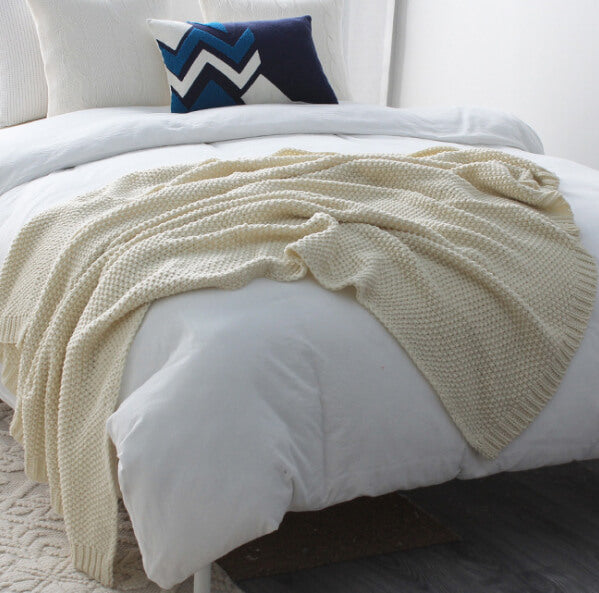 Cotton Knit Throws blanket