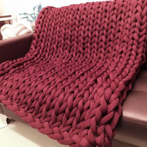 Super Chunky Knitted Throws Blanket | Thick Yarn Blanket | Weighted Blanket