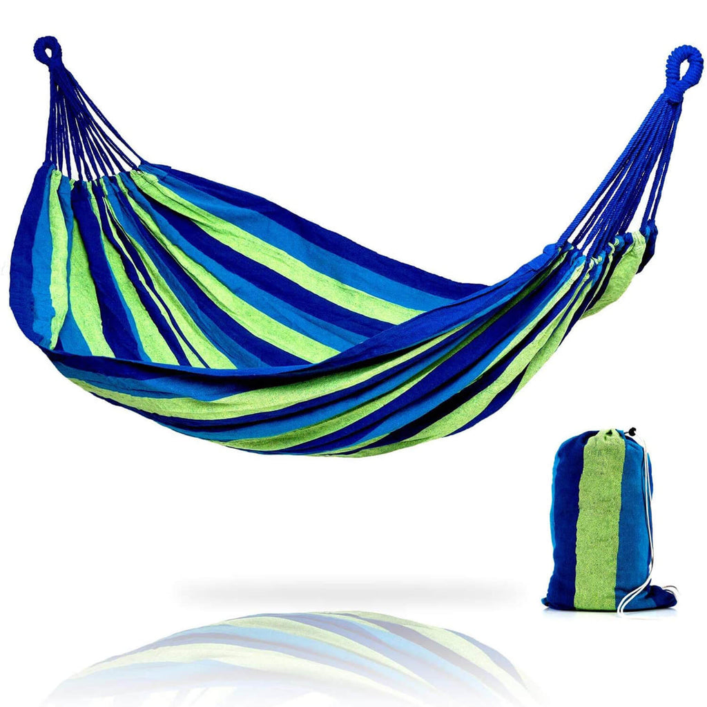 Hammock Brazilian Double Hammock - Two Person Bed for Backyard, Porch, Outdoor and Indoor Use