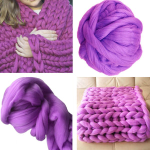 Giant super bulky Merino Chunky Yarn | knitting Chunky wool yarn