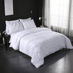 Egyptian Cotton 3pcs Queen/King Duvet Cover Set