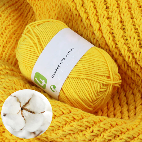 50g Milk Cotton Yarn Comfortable Wool knitting yarn