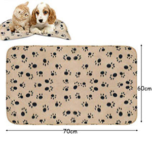 Pet Blanket Warm Dog Cat Fleece Blankets Sleep Mat Pad Bed Cover Soft Blanket