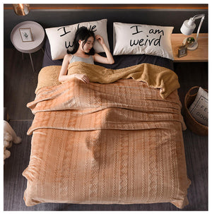 Sherpa Fleece Throw Blanket, Plush Blanket Twin Queen Size