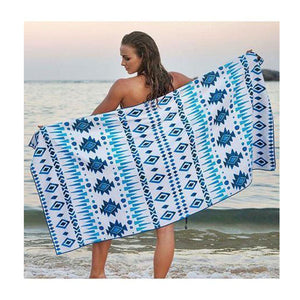 "Large Beach Cotton Towel | Bohemian 60"" x 30"""