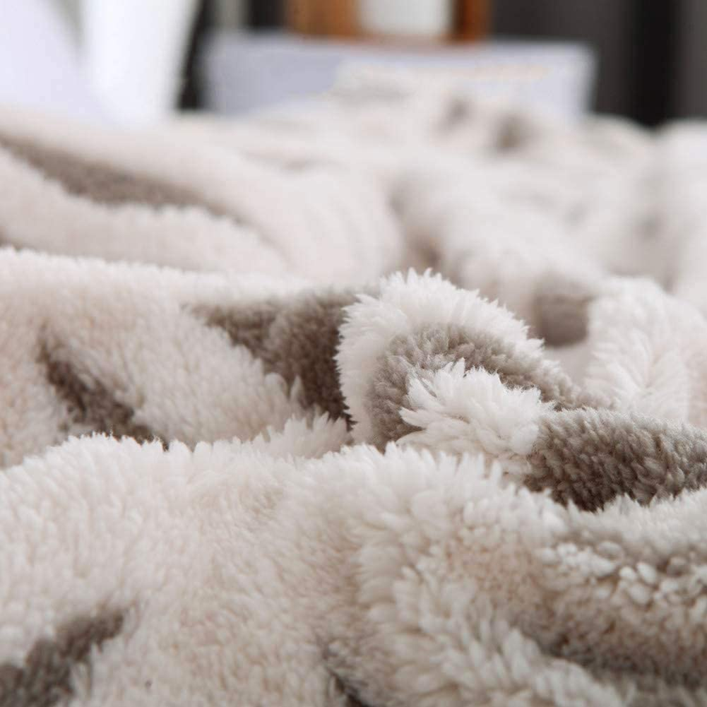 Sherpa Fleece Throw Blanket Fuzzy Soft Bed Blanket