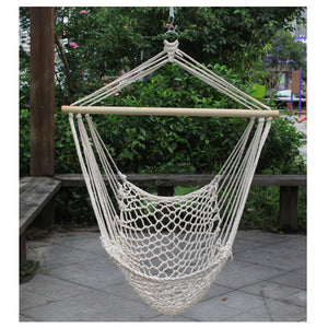 Hammocks White Hanging Net Chair|Cotton Swing Camping