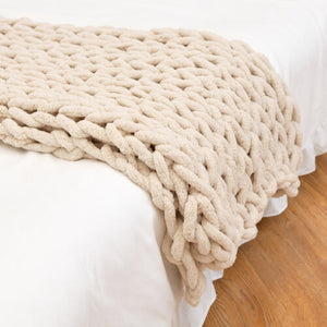 Chunky Knit Chenille Blanket