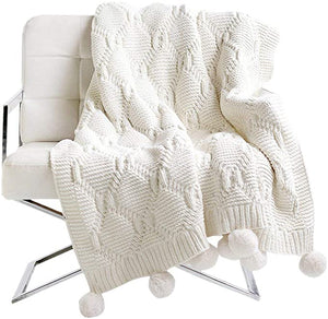 "Iceland Wool Knitted Throw Blanket, Super Soft Couch/Sofa/Bed Cover (51.18""×59.05"")"
