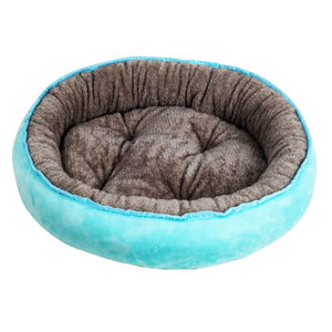 Pet Cotton Sherpa Bagel Cat Dog Bed(Kennel + mat)
