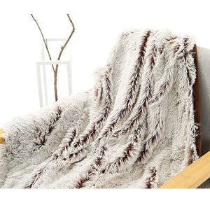 Fleece Faux Fur Throw Blanket, Lap Fleece Blankets