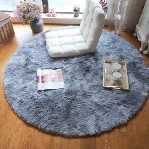 Round Fluffy Soft Area Rugs