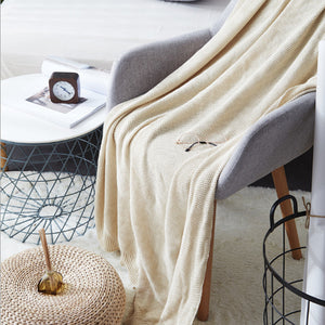 Sweater Cotton Weave Blanket / Full/queen