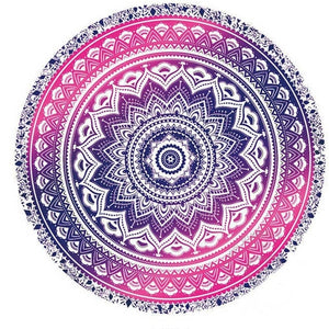 Mandala Round Tapestry Summer Beach Picnic Throw Rug Blanket Bohemia Mats