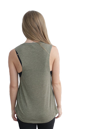 Flowy Wrap Muscle Tank - Feeds 2 Rescue Dogs