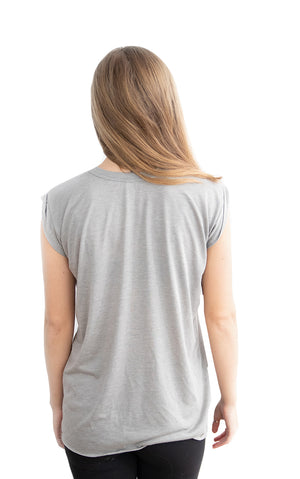 Flowy Half Wrap Muscle Tee - Feeds 3 Rescue Dogs