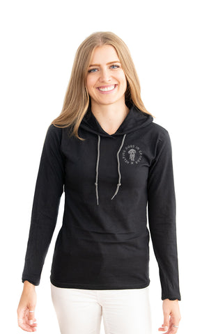 Hooded Wrap Tee - Feeds 7 Rescue Dogs