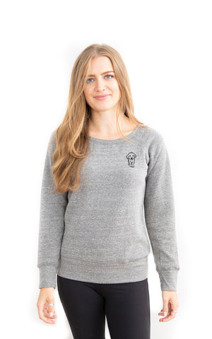 Fleece Scoop Neck Pup Sweatshirt - Feeds 6 Rescue Dogs