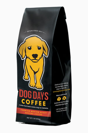 Premium Dark Roast Coffee 1lb - Feeds 5 Rescue Dogs