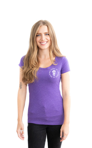 Scoop Neck Wrap Tee - Feeds 7 Rescue Dogs