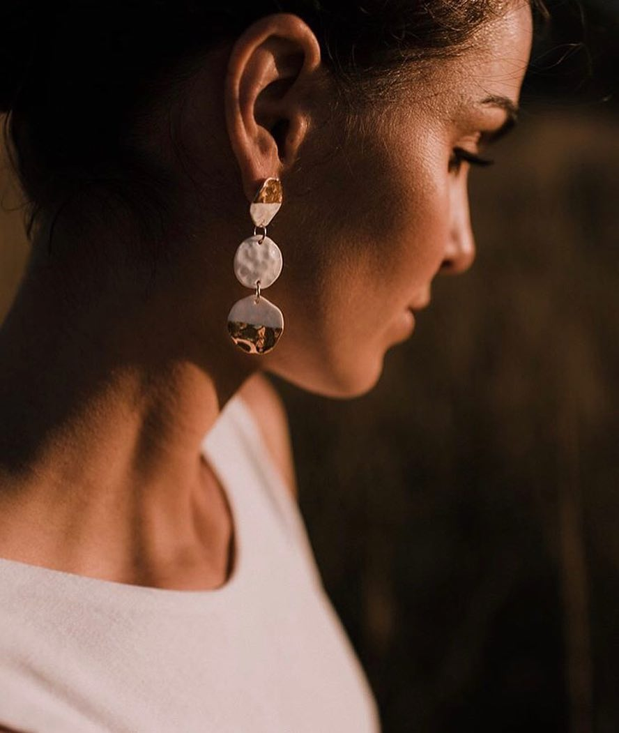 Dangling Hammered Earrings