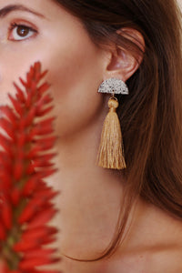 Halfmoon Tassel Earrings