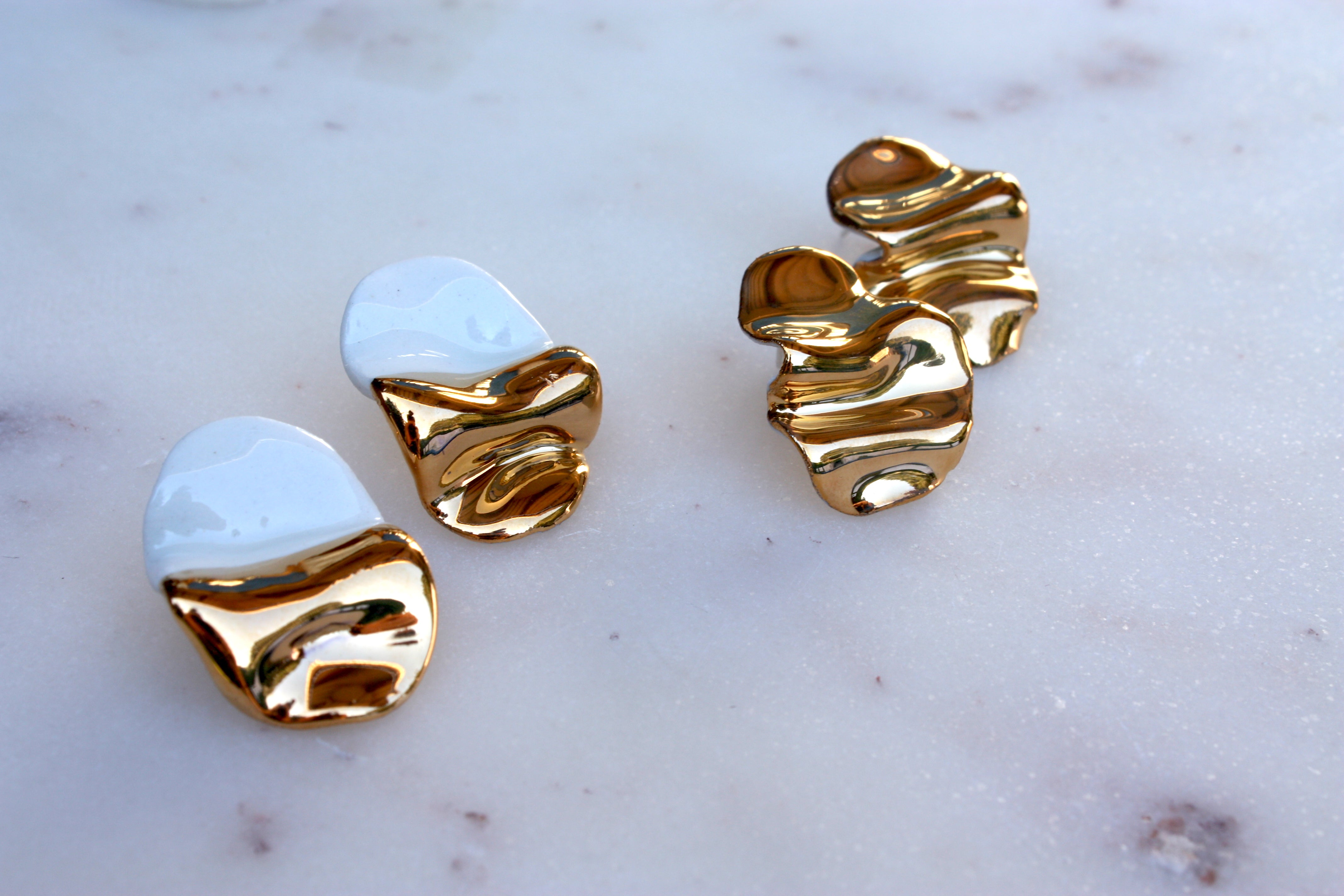 Oval Folded Earrings