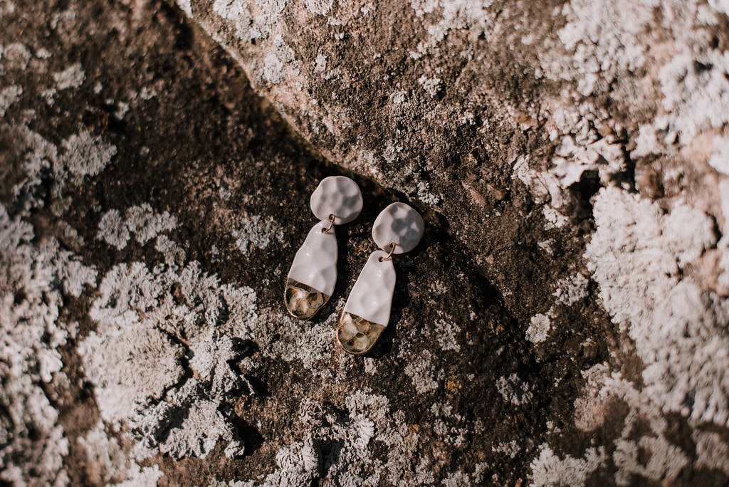 Teardrop Hammered Earrings