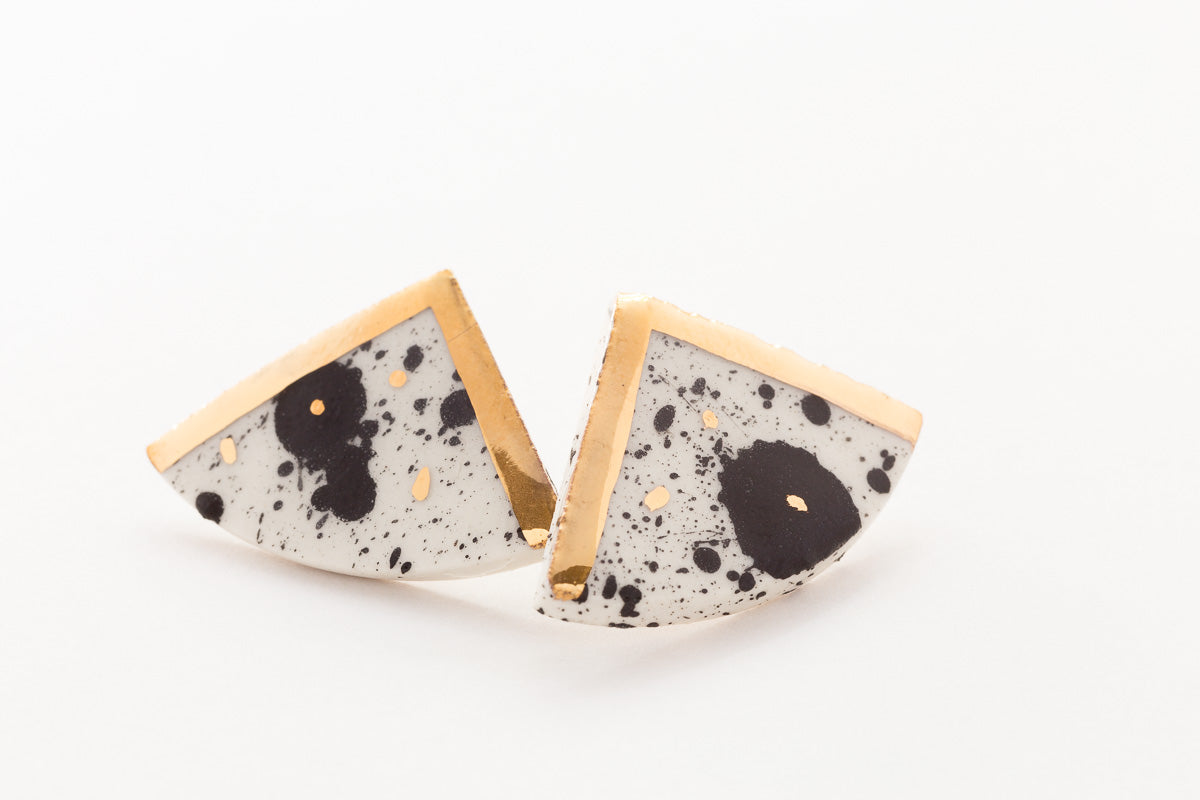Nguni Triangle Earrings
