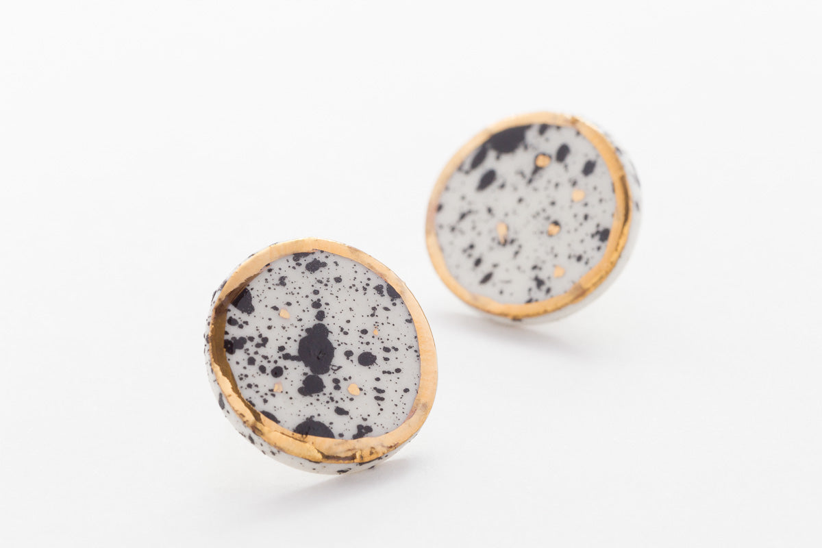 Nguni Round Earrings