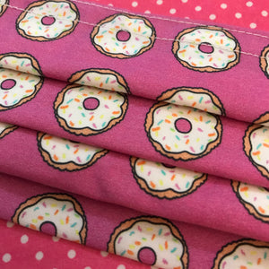 Donuts for Sprinkles - Handmade Cotton Non-Medical Fabric Face Covering Masks with Filter Pocket - Adult and child sizes