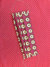 Load image into Gallery viewer, Donuts for Sprinkles - Handmade Cotton Non-Medical Fabric Face Covering Masks with Filter Pocket - Adult and child sizes