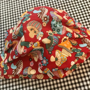 Mushroom Party - Handmade Cotton Non-Medical Fabric Face Covering Masks with Filter Pocket - adult or kids sizing