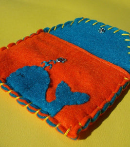 Whale Snap Pouch - Eco-friendly Felt Owl Wallet/Pouch