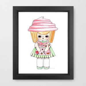 "Pinky Frostina Illustration Print - 8.5""x11"" or 5""x7"""