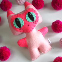 Load image into Gallery viewer, Pink Siamese Minou Kitty - Eco-friendly Felt Plush Kitty